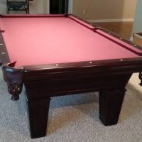 7' Fischer Slated Pool Table For Sale